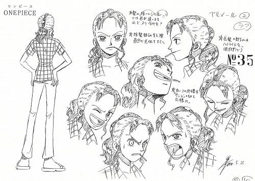 Eiichiro Oda, Toei Animation, One Piece, Bellemere, Character Sheet