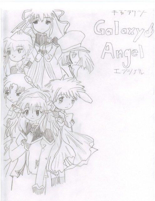 Broccoli, Galaxy Angel, Mint Blancmanche, Ranpha Franboise, Chitose Karasuma