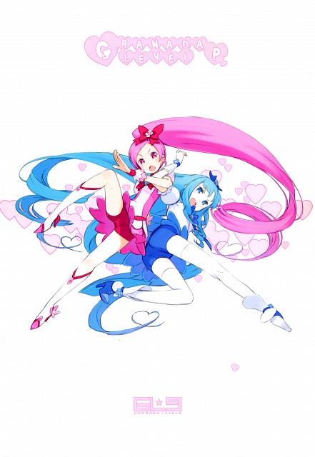 Kouhaku Kuroboshi, HeartCatch Precure!, GRANADA LEVEL P , Cure Blossom, Cure Marine