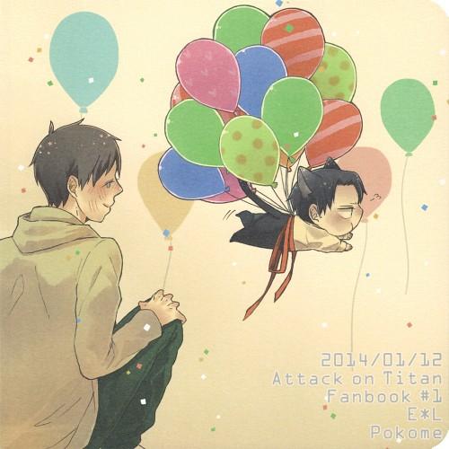 Shingeki no Kyojin, Eren Yeager, Levi Ackerman, Doujinshi, Doujinshi Cover