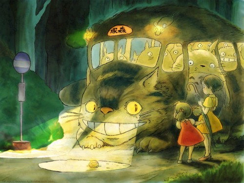 Studio Ghibli, My Neighbor Totoro, Catbus, Totoro, Mei Kusakabe Wallpaper