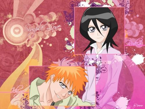 Kubo Tite, Studio Pierrot, Bleach, Ichigo Kurosaki, Rukia Kuchiki Wallpaper