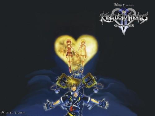 Square Enix, Kingdom Hearts, Sora, Naminé, Kairi Wallpaper