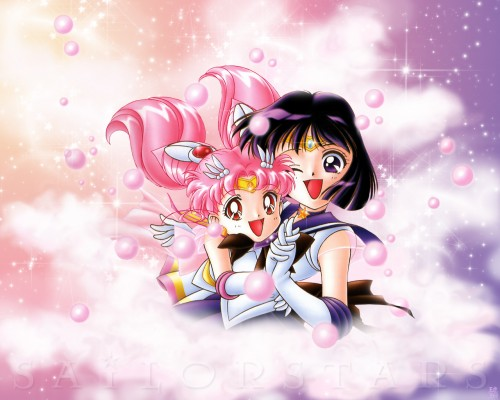 Toei Animation, Bishoujo Senshi Sailor Moon, Super Sailor Chibi Moon, Sailor Saturn Wallpaper