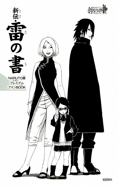 Masashi Kishimoto, Naruto, Sarada Uchiha, Sakura Haruno, Sasuke Uchiha