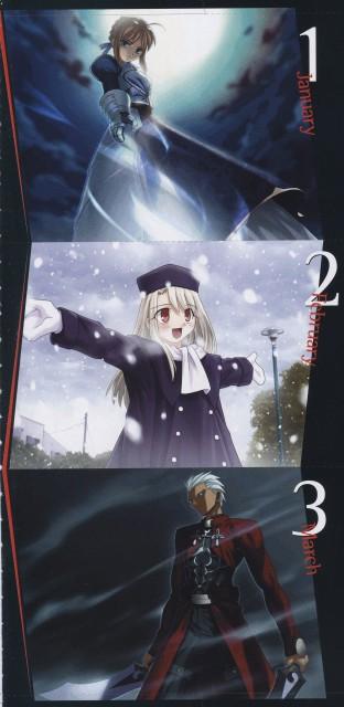 TYPE-MOON, Fate/stay night, Archer (Fate/stay night), Illyasviel von Einzbern, Saber