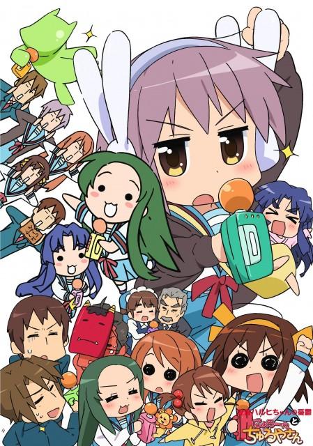 Kyoto Animation, The Melancholy of Suzumiya Haruhi, Yuki Nagato, Sonou Mori, Ryoko Asakura