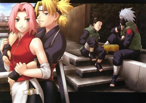 Naruto, Kakashi Hatake, Temari, Sakura Haruno, Shikamaru Nara