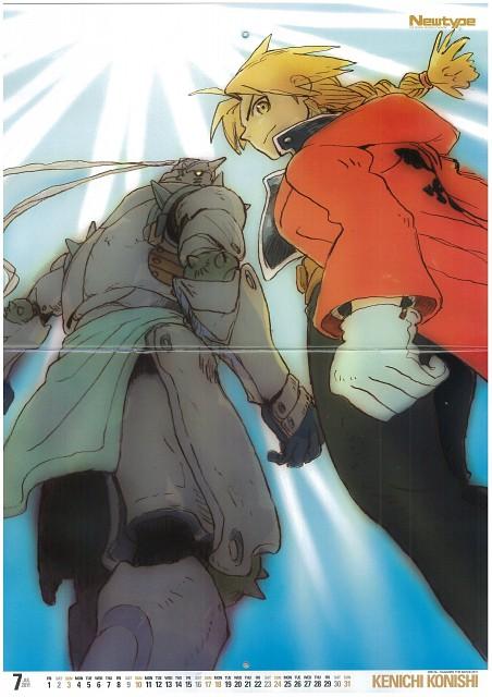 Hiromu Arakawa, BONES, Fullmetal Alchemist, Newtype 2011 Calendar, Edward Elric