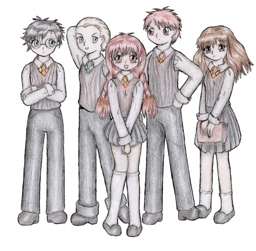 Harry Potter, Hermione Granger, Ron Weasley, Draco Malfoy, Harry Potter (Character)