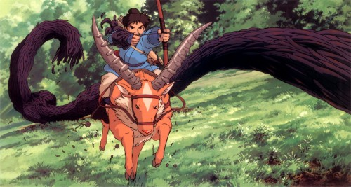 Kazuo Oga, Studio Ghibli, Princess Mononoke, Ashitaka, Yakul
