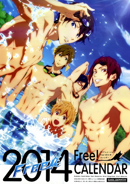 Futoshi Nishiya, Kyoto Animation, Free!, Free! 2014 Calendar, Rei Ryuugazaki