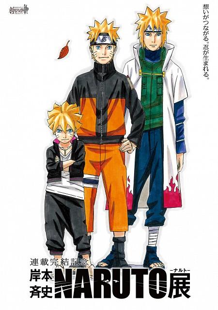 Masashi Kishimoto, Naruto, Minato Namikaze, Naruto Uzumaki, Bolt Uzumaki