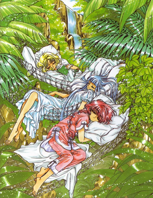 CLAMP, Magic Knight Rayearth, Magic Knight Rayearth Illustrations Collection, Umi Ryuuzaki, Fuu Hououji
