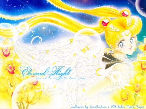 Naoko Takeuchi, Bishoujo Senshi Sailor Moon, BSSM Original Picture Collection Vol. V, Eternal Sailor Moon Wallpaper