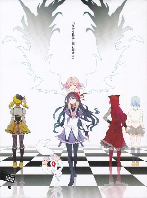Puella Magi Madoka Magica, Abracadabra: Madoka Magica Fan Book, Kyubey, Kyouko Sakura, Sayaka Miki
