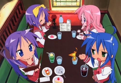 Lucky Star, Kagami Hiiragi, Miyuki Takara, Konata Izumi, Tsukasa Hiiragi