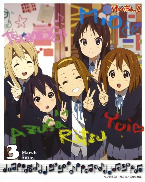 Kakifly, Kyoto Animation, K-On!, K-On! 2011-2012 School Calendar, Mio Akiyama