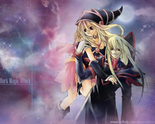 Yu-Gi-Oh Duel Monsters, Dark Magician, Dark Magician Girl Wallpaper