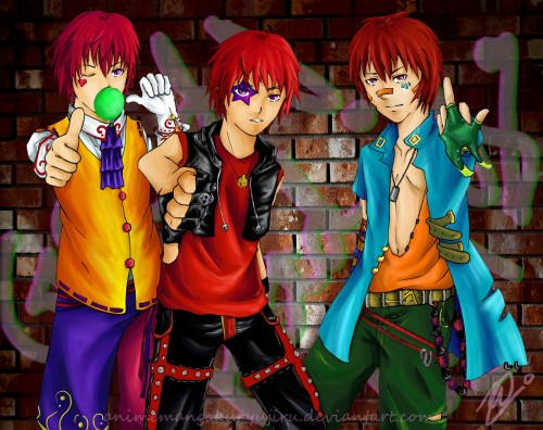 Naruto, Prince of Tennis, Ikkitousen, Sasori, Bunta Marui