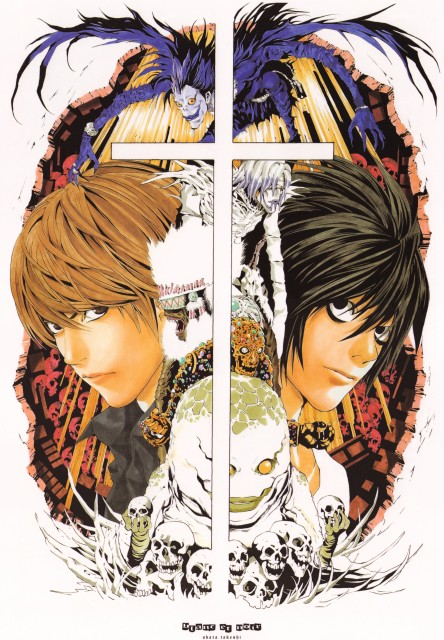 Takeshi Obata, Death Note, Blanc et Noir, Light Yagami, L