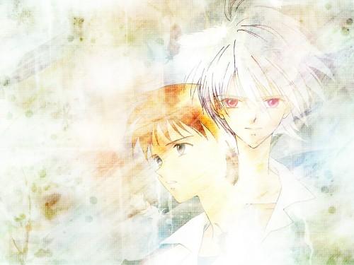 Yoshiyuki Sadamoto, Neon Genesis Evangelion, Kaworu Nagisa, Shinji Ikari Wallpaper