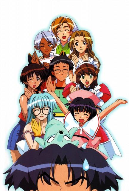 Hand Maid May, Kazuya Saotome, Kasumi Tani, Cyberdoll Mami, Cyberdoll May