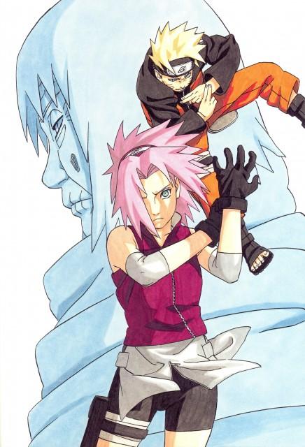 Masashi Kishimoto, Naruto, NARUTO Illustrations, Sakura Haruno, Naruto Uzumaki