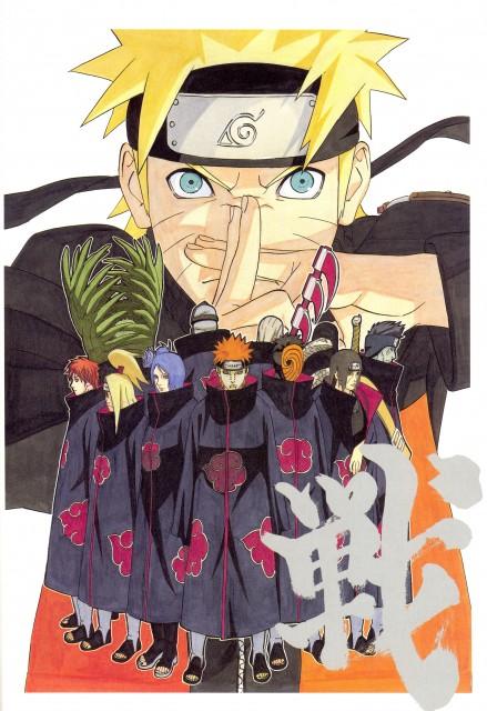 Masashi Kishimoto, Naruto, NARUTO Illustrations, Kisame Hoshigaki, Deidara
