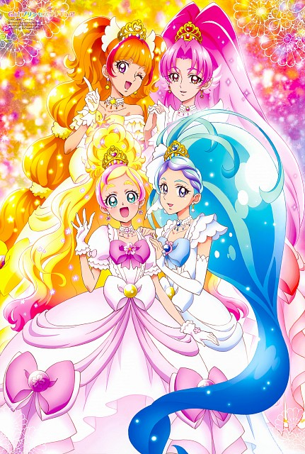 Toei Animation, Go! Princess Precure, Cure Mermaid, Cure Flora, Cure Scarlet