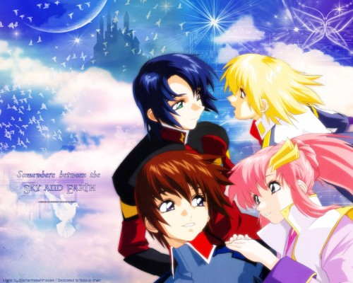 Sunrise (Studio), Mobile Suit Gundam SEED, Cagalli Yula Athha, Athrun Zala, Kira Yamato Wallpaper