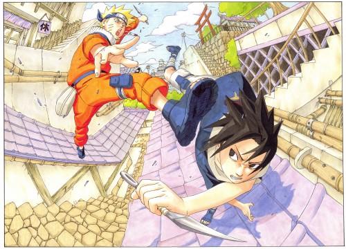 Masashi Kishimoto, Naruto, NARUTO Illustrations, Naruto Uzumaki, Sasuke Uchiha