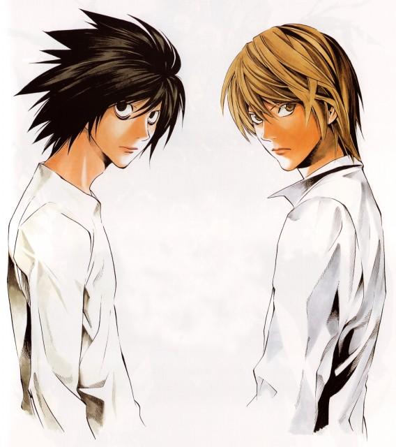 Takeshi Obata, Death Note, Blanc et Noir, Light Yagami, L