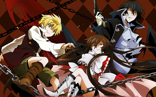 Jun Mochizuki, Pandora Hearts, Oz Vessalius, Gilbert Nightray, Alice (Pandora Hearts) Wallpaper