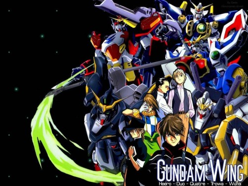 Sunrise (Studio), Mobile Suit Gundam Wing, Chang Wufei, Duo Maxwell, Heero Yuy Wallpaper