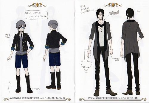 Yana Toboso, Kuroshitsuji, Sebastian Michaelis, Ciel Phantomhive, Character Sheet