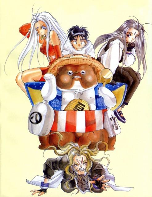 Kousuke Fujishima, Ah! Megami-sama, Keiichi Morisato, Urd, Marller