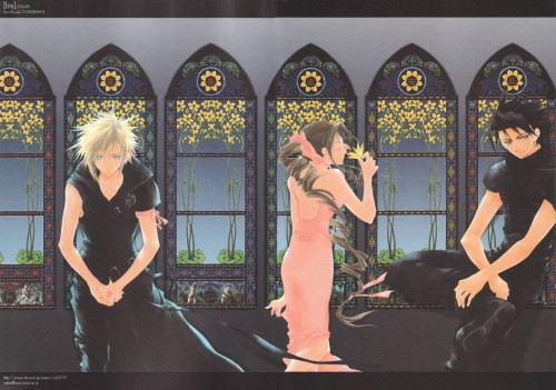 Yubinbasya, Final Fantasy VII: Advent Children, Cloud Strife, Zack Fair, Aerith Gainsborough