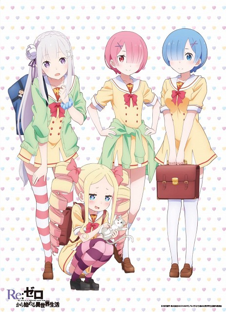 White Fox, Re:Zero, Ram (Re:Zero), Puck (Re:Zero), Emilia (Re:Zero)