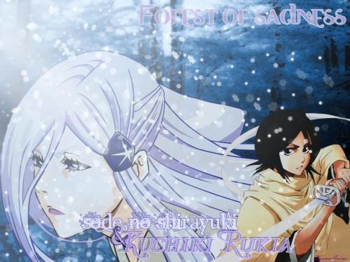 Kubo Tite, Studio Pierrot, Bleach, Rukia Kuchiki, Sode no Shirayuki Wallpaper