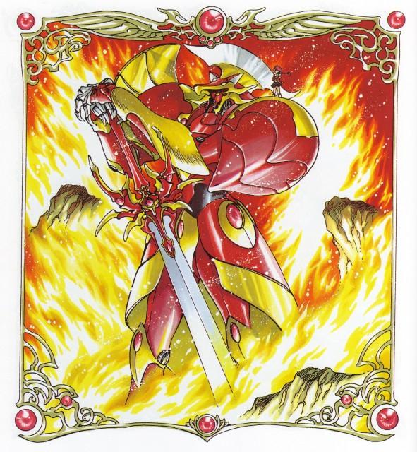 CLAMP, Magic Knight Rayearth, Magic Knight Rayearth Illustrations Collection, Hikaru Shidou, Rayearth (Character)