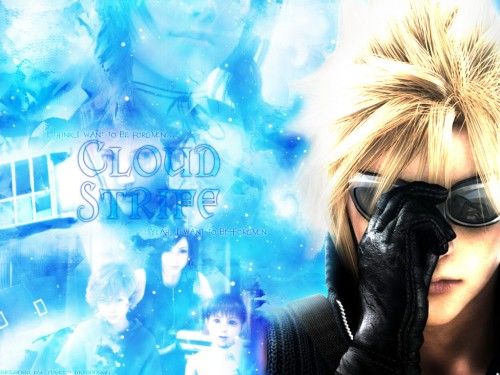 Square Enix, Final Fantasy VII: Advent Children, Cloud Strife, Aerith Gainsborough Wallpaper