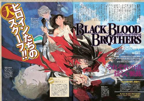 Yuuya Kusaka, Group TAC, Black Blood Brothers, Mimiko Katsuragi, Kotaro Mochizuki