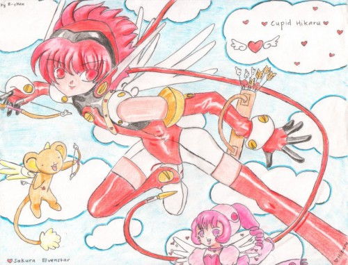 Cardcaptor Sakura, Angelic Layer, Chobits, Sumomo, Hikaru (Angelic Layer)