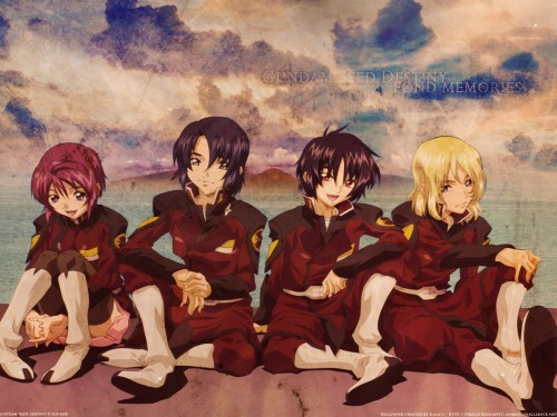 Sunrise (Studio), Mobile Suit Gundam SEED Destiny, Lunamaria Hawke, Rey Za Burrel, Shinn Asuka Wallpaper