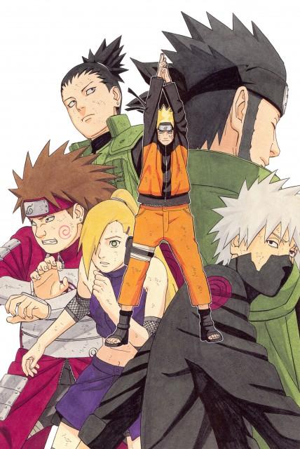 Masashi Kishimoto, Naruto, NARUTO Illustrations, Naruto Uzumaki, Shikamaru Nara