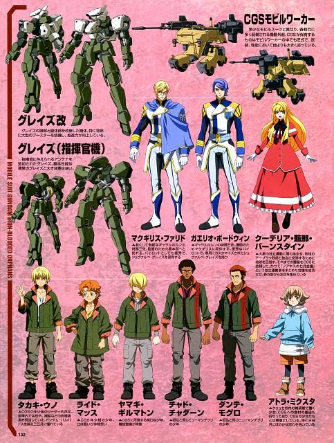 Sunrise (Studio), Mobile Suit Gundam: Iron-Blooded Orphans, Character Sheet, Newtype Magazine, Magazine Page