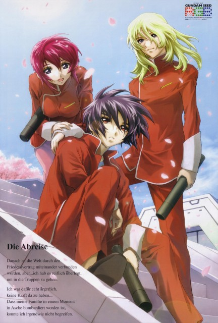 RGB, Mobile Suit Gundam SEED Destiny, Shinn Asuka, Lunamaria Hawke, Rey Za Burrel