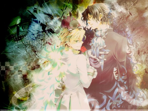 Jun Mochizuki, Xebec, Pandora Hearts, Gilbert Nightray, Oz Vessalius Wallpaper