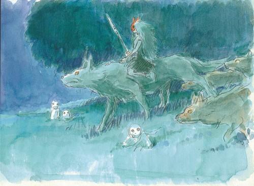 Hayao Miyazaki, Studio Ghibli, Princess Mononoke, Kodama, Moro